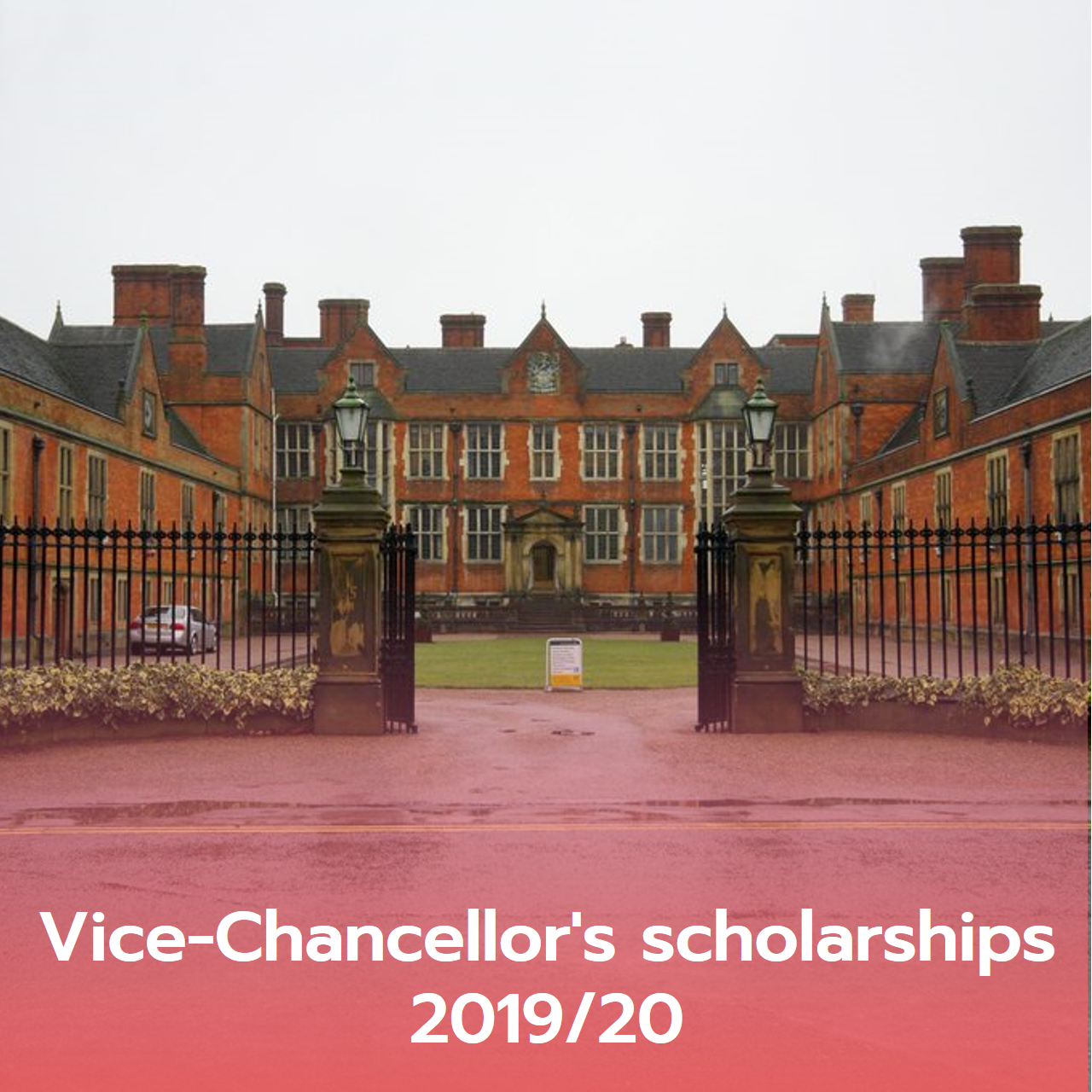 Vice-Chancellor's scholarships 2019/20